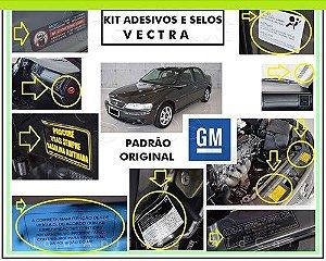 KIT ADESIVOS E SELOS VECTRA - 2000 A 2005 (TODAS AS VERSÕES)