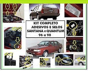ADESIVOS SANTANA / QUANTUM 96 a 98 (KIT COMPLETO)