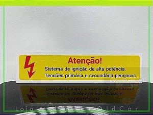 ADESIVO SISTEMA DE IGNIÇÃO DE ALTA POTÊNCIA - LINHA VOLKS - GOL, SANTANA, KOMBI, FUSCA