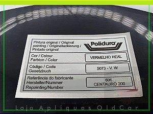 ADESIVO CÓDIGO PINTURA ORIGINAL - LINHA VOLKSWAGEN - CATÁLOGO 4