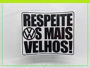 ADESIVO RESPEITE OS MAIS VELHOS - CARROS ANTIGOS VOLKSWAGEN (COLAGEM INTERNA)