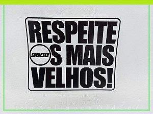 ADESIVO RESPEITE OS MAIS VELHOS - CARROS ANTIGOS FIAT (COLAGEM INTERNA)