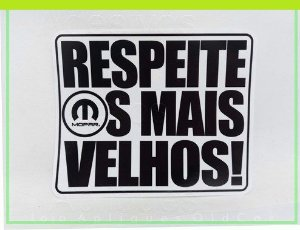 ADESIVO RESPEITE OS MAIS VELHOS - CARROS ANTIGOS DODGE (COLAGEM INTERNA)