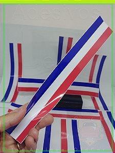 Adesivo Faixa Decorativa Cores - America / França - Faixa 30cm_x_5cm