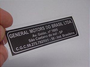Adesivo Selo General Motors do Brasil LTDA - Tamanho Pequeno