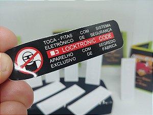 Par - Adesivos Locktronic Code - Selo de Segurança Toca-Fitas Linha GM