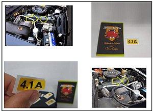 ADESIVO 4.1A - TAMPA DE VÁLVULAS COMODORO / DIPLOMATA - 6cil Álcool - MOTOR CINZA RETENTOR