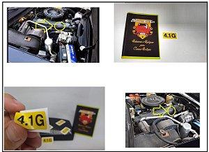 ADESIVO 4.1G - TAMPA DE VÁLVULAS COMODORO / DIPLOMATA - 6cil Gasolina - MOTOR CINZA RETENTOR