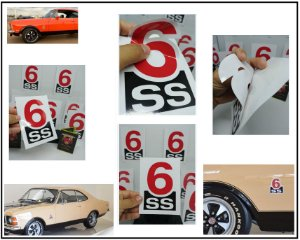 PAR ADESIVOS 6SS - SS75 e SS76  (Par LE / LD) - PADRÃO OFICIAL - COR e TAMANHO