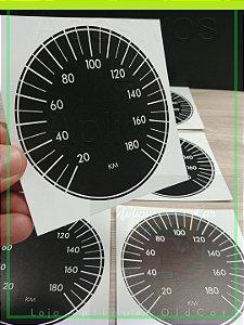 Aplique Velocímetro - Painel Opala / Caravan até 1980 - Aplique Velocímetro Marcação até 180Km