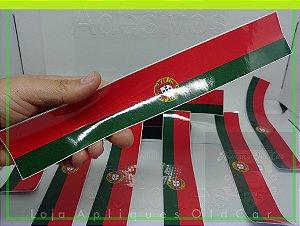 Adesivo Faixa Decorativa Cores - (Bandeira Portugal) - Faixa 30cm_x_5cm
