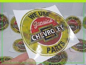 ADESIVO WE USE GENUINE PARTS - CHEVROLET - ADESIVO RETRÔ