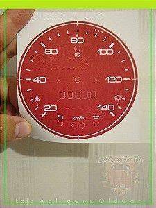 APLIQUE VELOCÍMETRO FUSCA 1300, 1500 (75 a 79) - 140KM - MODELO 603