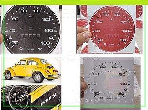 APLIQUE VELOCÍMETRO FUSCÃO - BIZORRÃO 1600s (74 / 75) - 160KM - MODELO 619