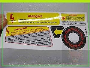 KIT ADESIVOS GOL G2 (GOL BOLA) - SAVEIRO e PARATI -  (MINI-FRENTE, CAPO, COFRE e LATARIA)