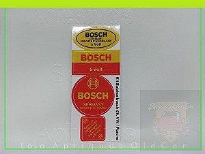 KIT ADESIVOS E SELOS BOSCH - BOBINA 6VOLTS - GERMANY - LINHA VW e PORSCHE
