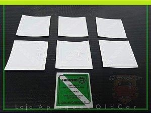 Adesivos Selos Fanavid - Kit c/ 6 Unids. - Selos para Vidros Fanavid - (Vidros Carros Antigos)