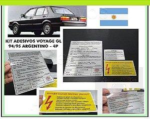KIT ADESIVOS VOYAGE GL 94/95 - ARGENTINO - (ADESIVOS CAPO e MINI-FRENTE)