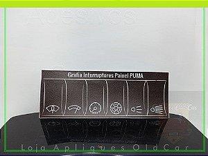 Apliques Grafia dos Botões / Interruptores -  Painel Puma GTB S1