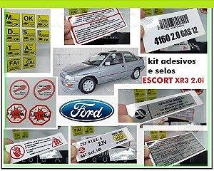 KIT ADESIVOS FORD ESCORT XR3 - 93 a 96 (KIT COMPLETO DE ADESIVOS E SELOS)