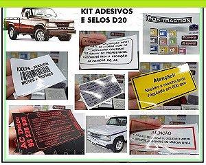 KIT ADESIVOS E SELOS - D20 (CUSTOM, DE LUXO, CONQUEST)
