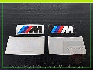 PAR SELOS MOTORSPORT BMW - (ADESIVO COLAGEM REVERSA INTERNO P/ VIDRO)