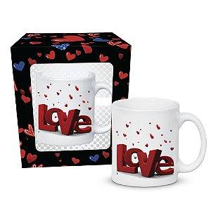 Caneca Reta Slot Love Caixa Presente