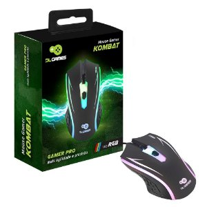 Mouse Gamer DL Games Kombat, LED RGB - MX250PRE