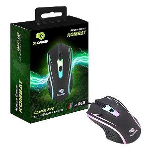 Mouse Gamer DL Games Kombat, LED RGB - MX250PRE