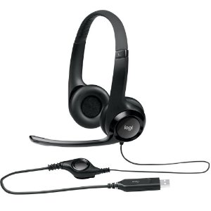 Headset Logitech H390 Áudio Digital USB Preto - 981-000014
