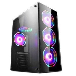Gabinete Gamer Hayom Preto Com 4 Fan - GB1701