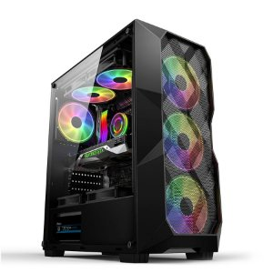 Gabinete Gamer Hayom Preto Com 3 Fan Frontal - GB1710
