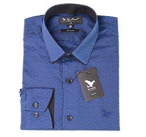 Camisa Manga Longa Azul Cód.7535