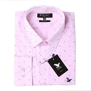 Camisa Manga Longa Rosa Cód.7550