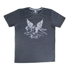 Camiseta Estampa Cinza Cód.6837