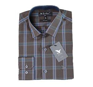 Camisa Manga Longa Chumbo Cód.7556