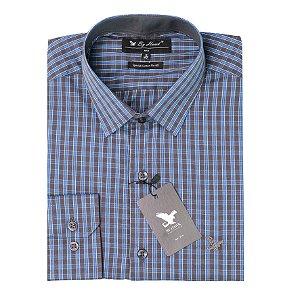 Camisa Manga Longa Listra Azul Cód.7546