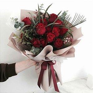 Red bouquet Clássico