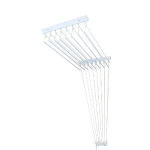 Varal de Teto Individual com 1,50 metro x 10 Varetas em Alumínio