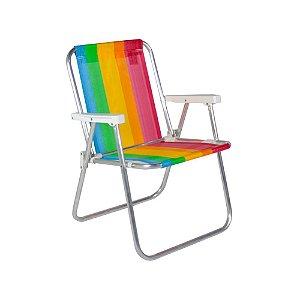 Cadeira de praia em alumínio dobrável