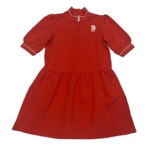 JANIE AND JACK vestido malha grossa vermelho B mine 8 anos