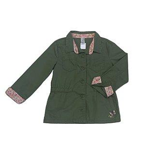 CARTERS jaqueta sarja verde detalhes flores 7 anos