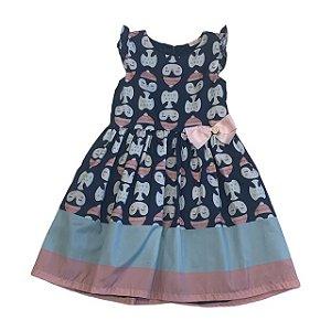 MON SUCRE vestido azul estp pinguim 8 anos