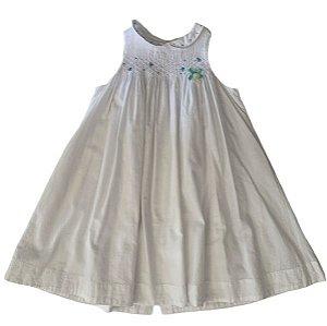 TARTIN ET CHOCOLAT vestido branco casinha de abelha 4 anos