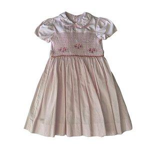 BONITA vestido rosa casinha de abelha 4 anos