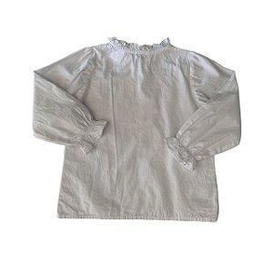 TROIS PETIT bata algodão branca 4 anos