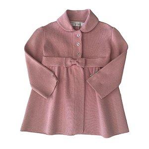 Casaco tipo trench coat rosa 4 anos