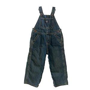 OSHKOSH jardineira jeans escuro 24 meses