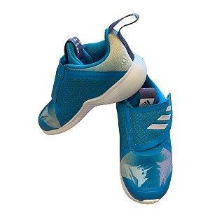 ADIDAS tênis azul Frozen velcro BRA 24