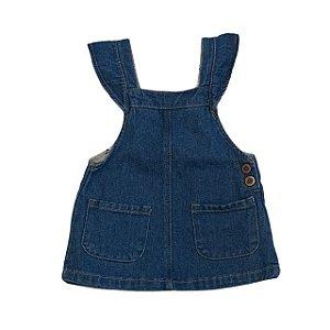 ZARA jardineira jeans saia 3-6 meses